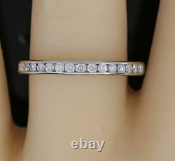 Estate Tiffany & Co. Platinum Diamond Band Ring Excellent Condition Size 8