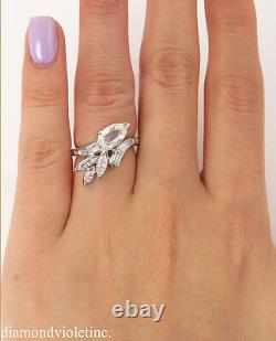 Gia 1.90ct Estate Vintage Old Pear Diamond Wedding Engagement Anniversary Ring