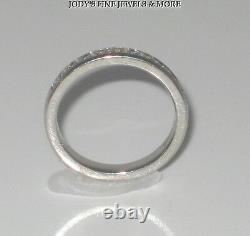 Magnificent Estate Platinum Diamond Ring Band. 33 Carats Size 6.75 Heavy
